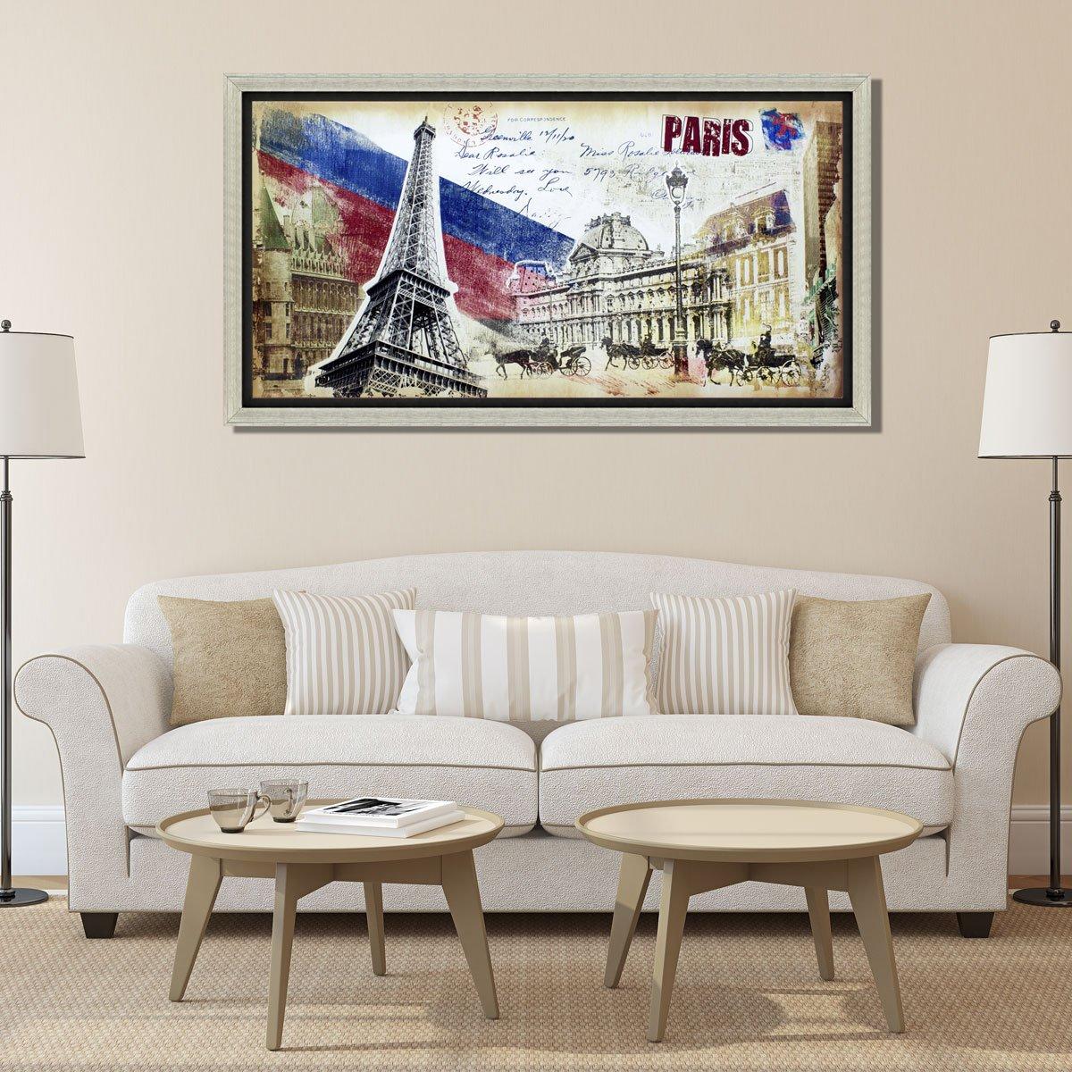 901ab582b Quadro Decorativo Impressão Digital em Tela Paris 130x70cm - Decore ...