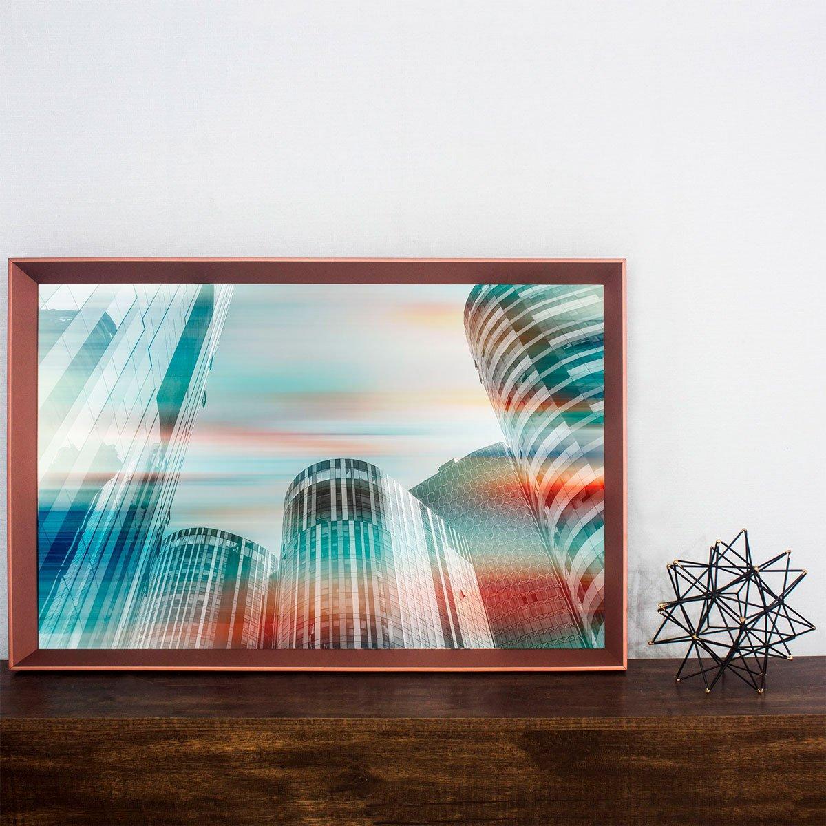 Quadro Decorativo Moderno Arquitetura Edfícios na China 95x65 cm