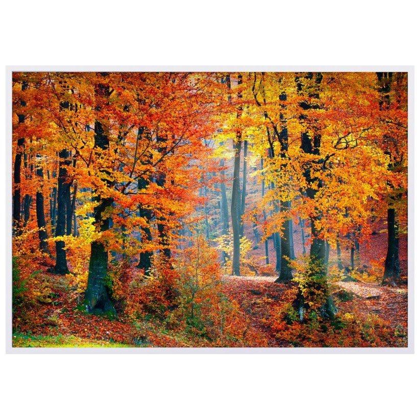 Quadro Decorativo Paisagem Floresta de Outono 120x80cm