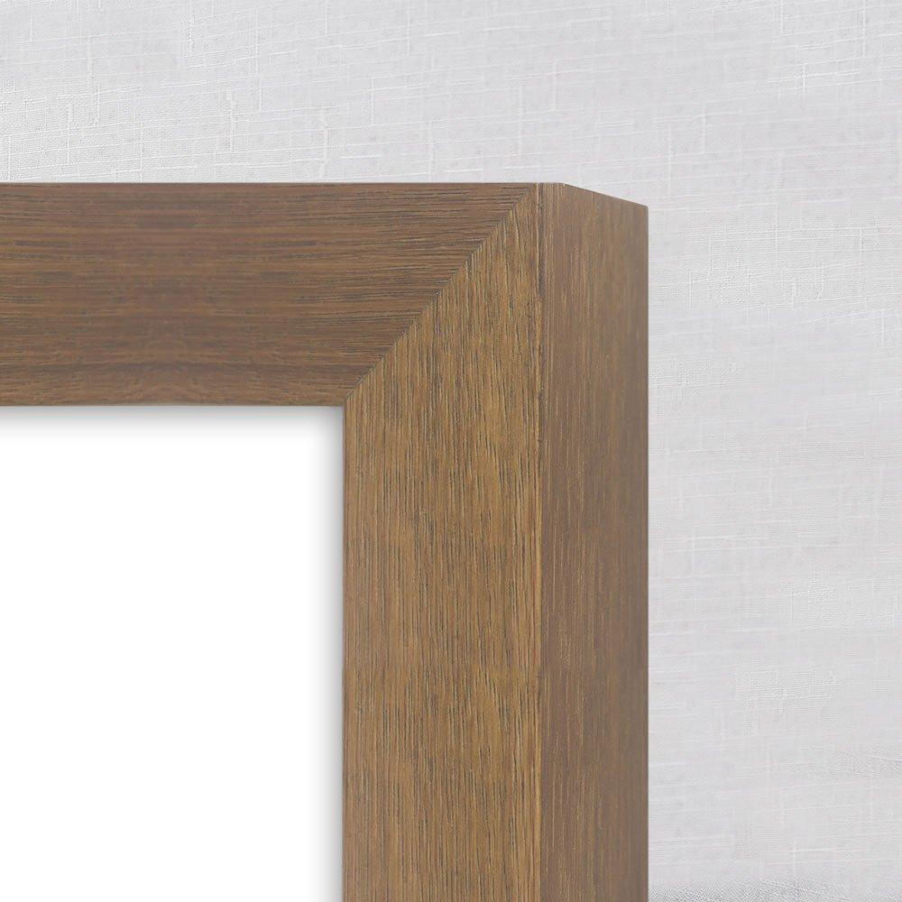 Detalhes, moldura com acabamento laminado natural tingido