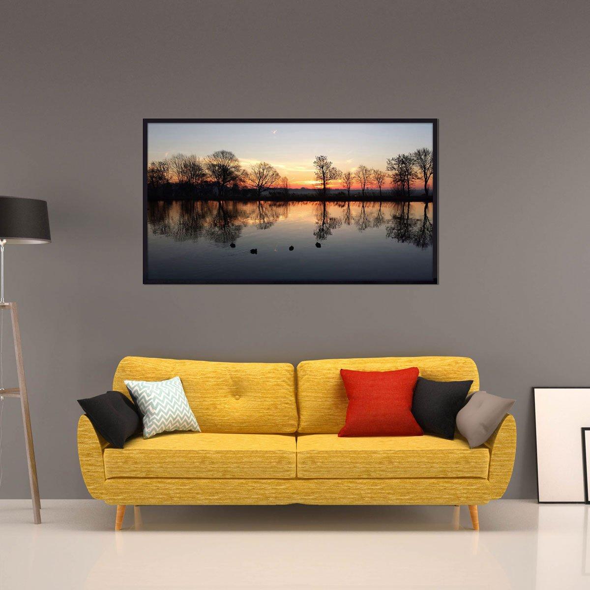 Quadro Paisagem Lago Amsterdam