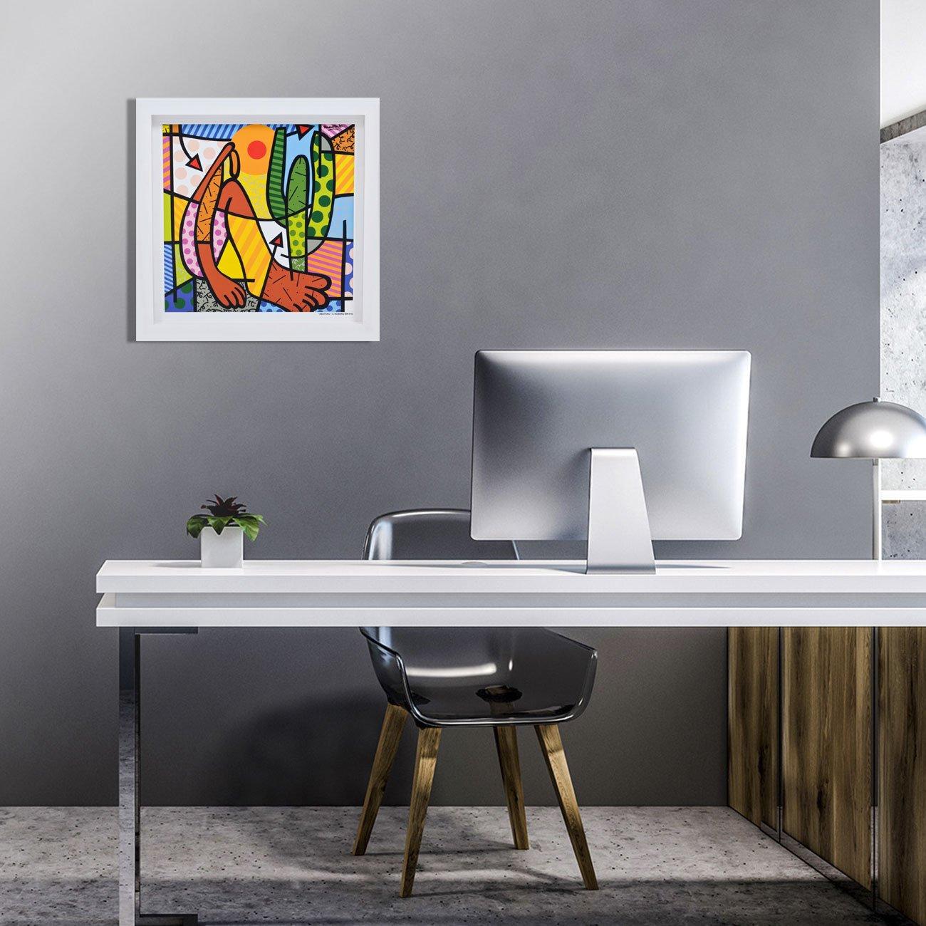 Quadro Decorativo Arte Abaporu Romero Britto 35x35 cm