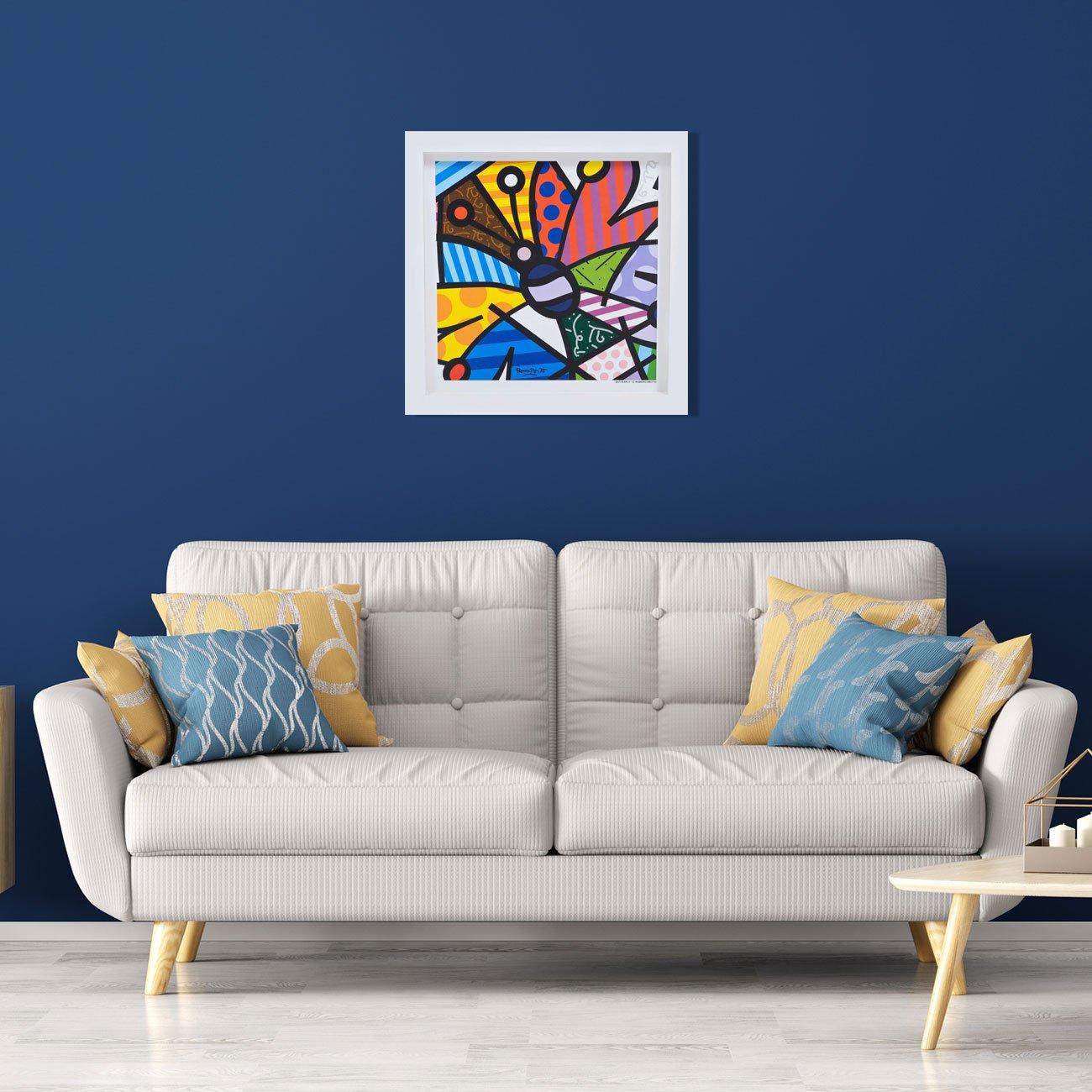 Quadro Decorativo Romero Britto Butterfly 35x35cm