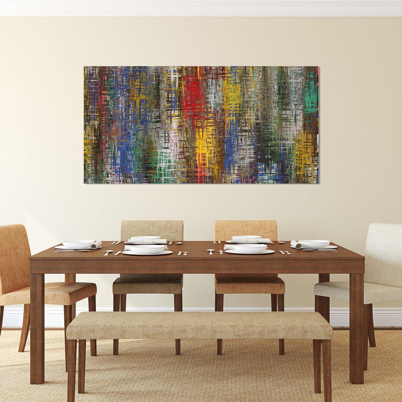 Uma admirável reprodução de arte em tela que reproduz lindamente o mesmo efeito de uma tela com pintura original.