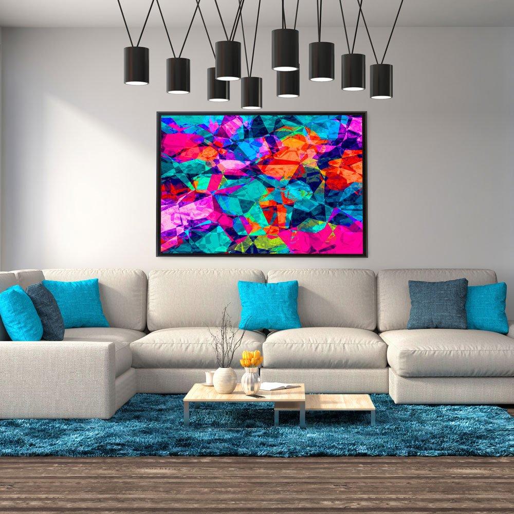 Tela Canvas com moldura, arte colors.