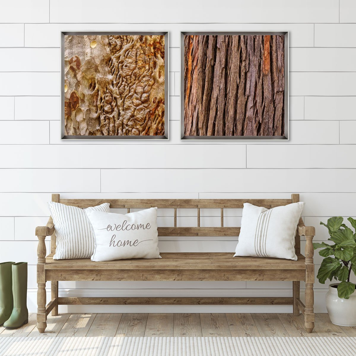 Quadro Decorativo Textura Árvore por Dorival Moreira 75x75 cm