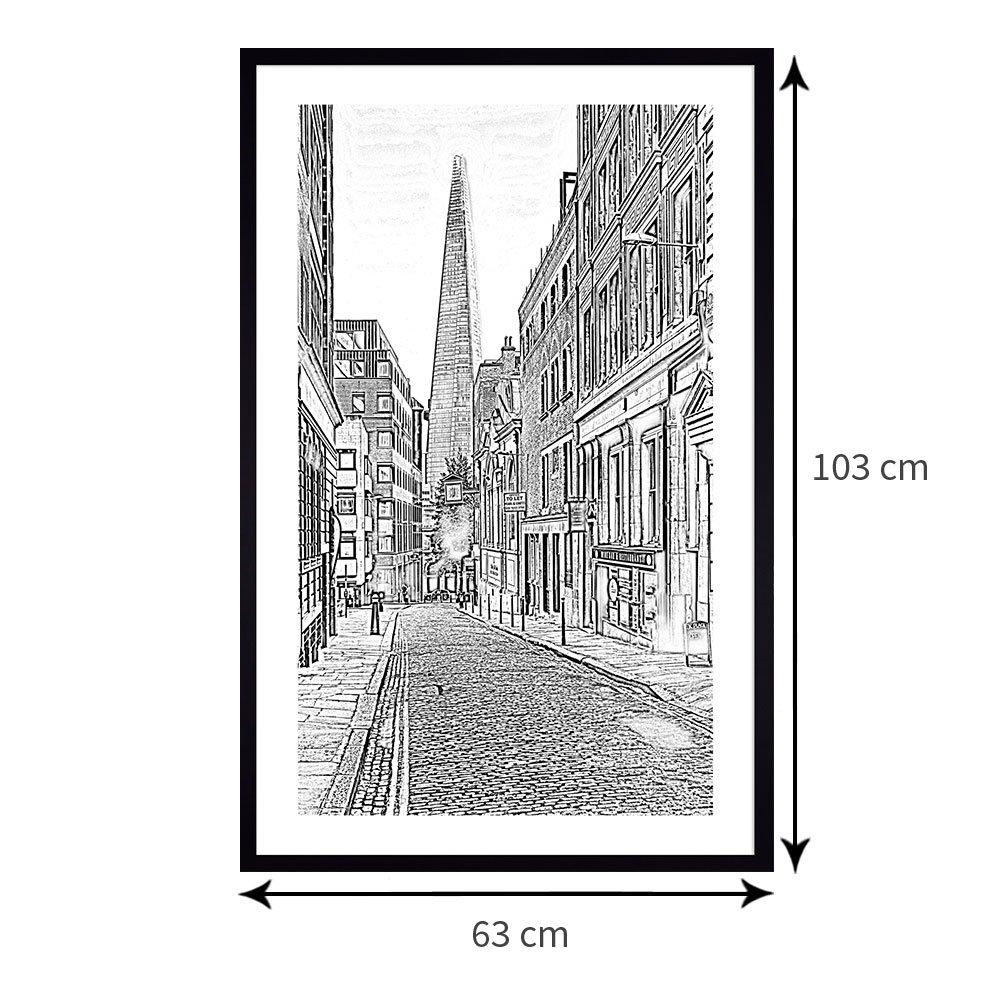 Tamanho exato do quadro: 63x103 cm.
