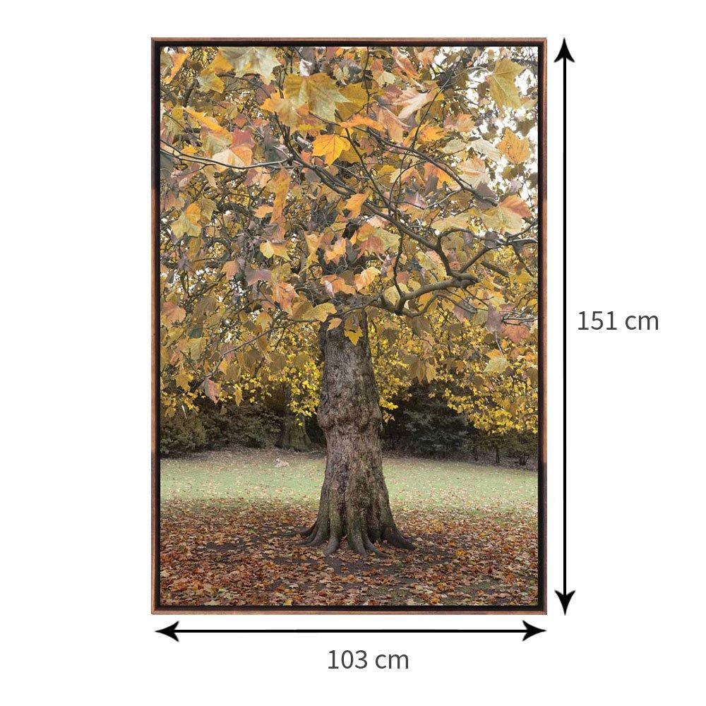 Tamanho exato do quadro com moldura flutuante: 103x151 cm.