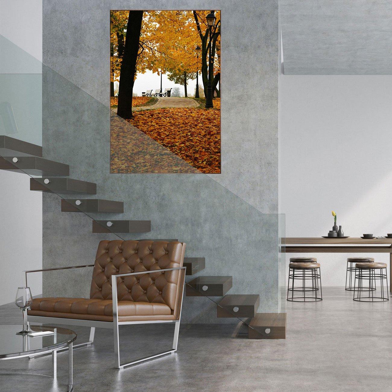 Quadro em Tela Canvas com Moldura Marrom Paisagem Natureza 100x150cm