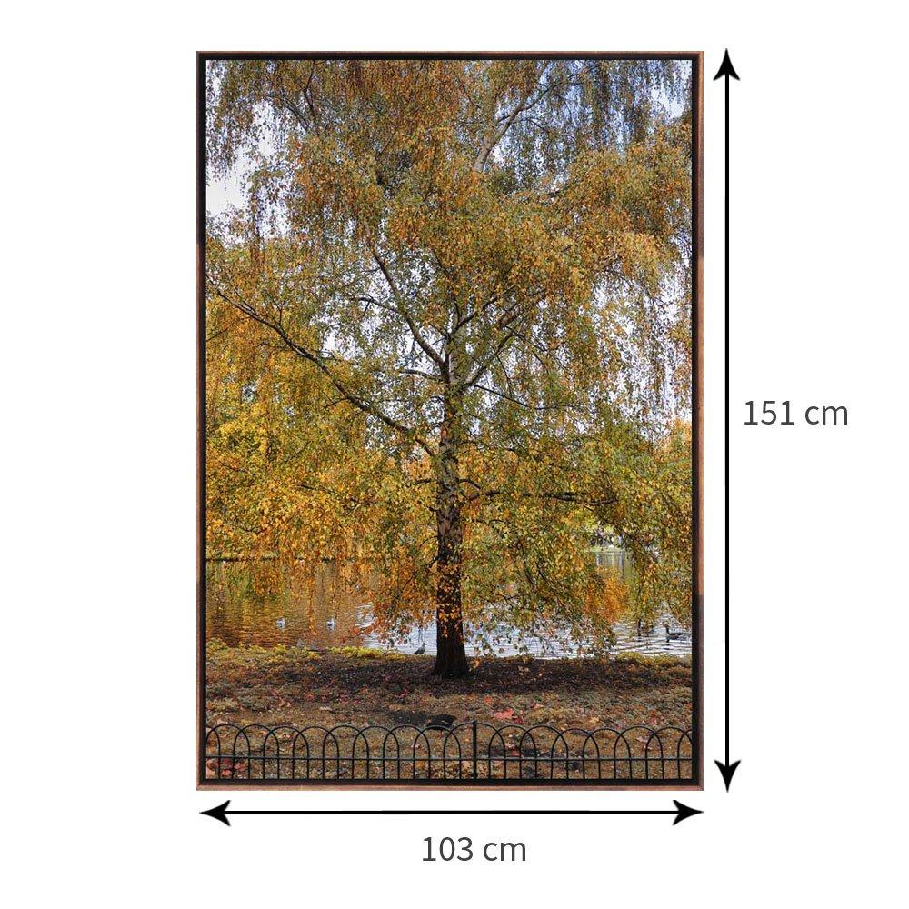 Tamanho exato da tela com moldura: 103 x 151 cm.