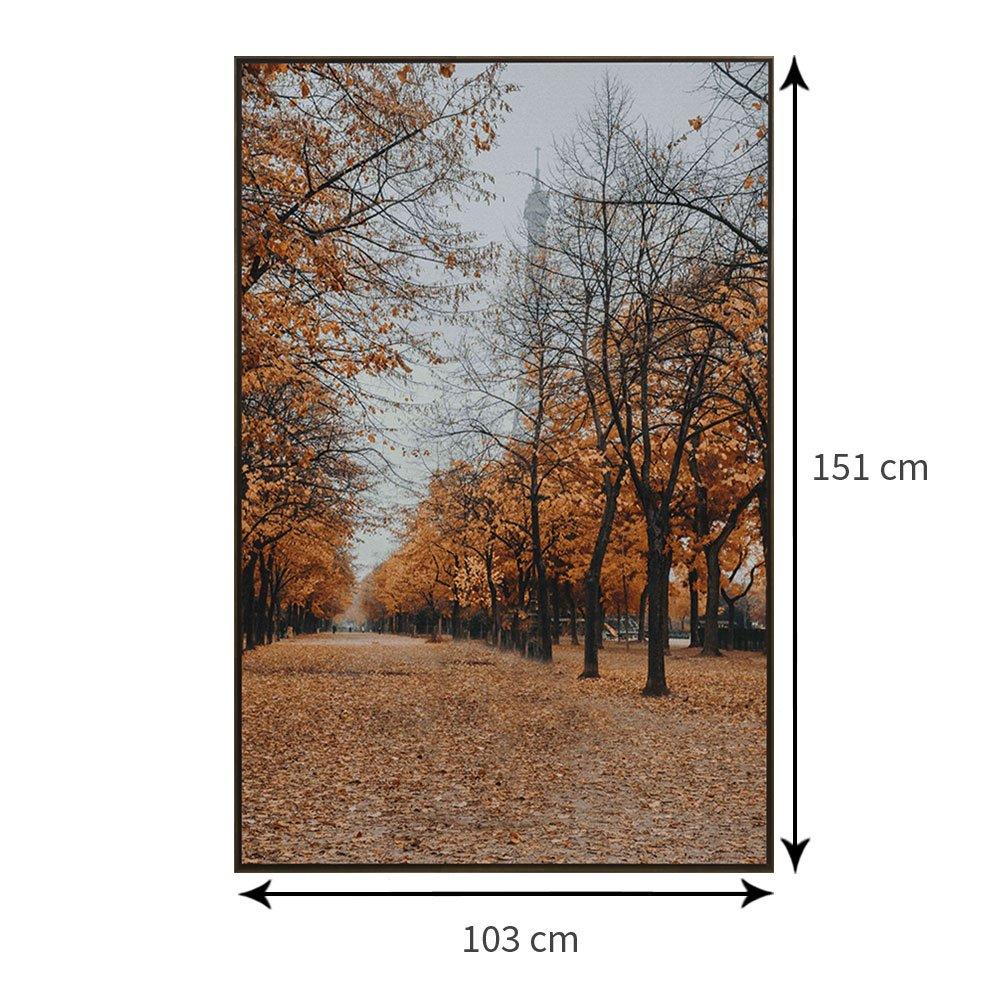 Tamanho exato do quadro com moldura: 103 x 151 cm.