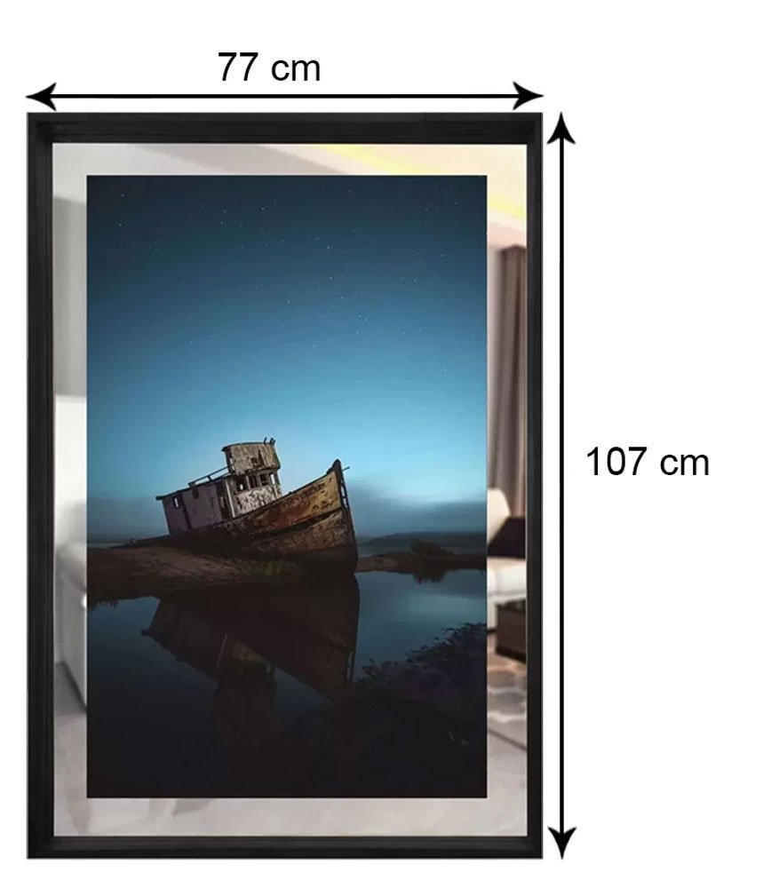 Tamanho Exato do Quadro (LxA): 77x107 cm.