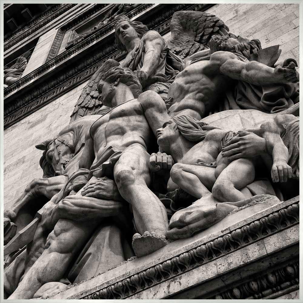 Quadro Esculturas Arco do Trunfo por Dorival Moreira 50x50 cm