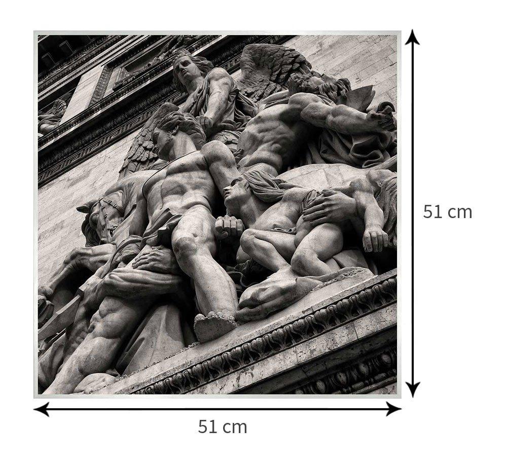 Quadro de tamanho personalizável: 51x51 cm.
