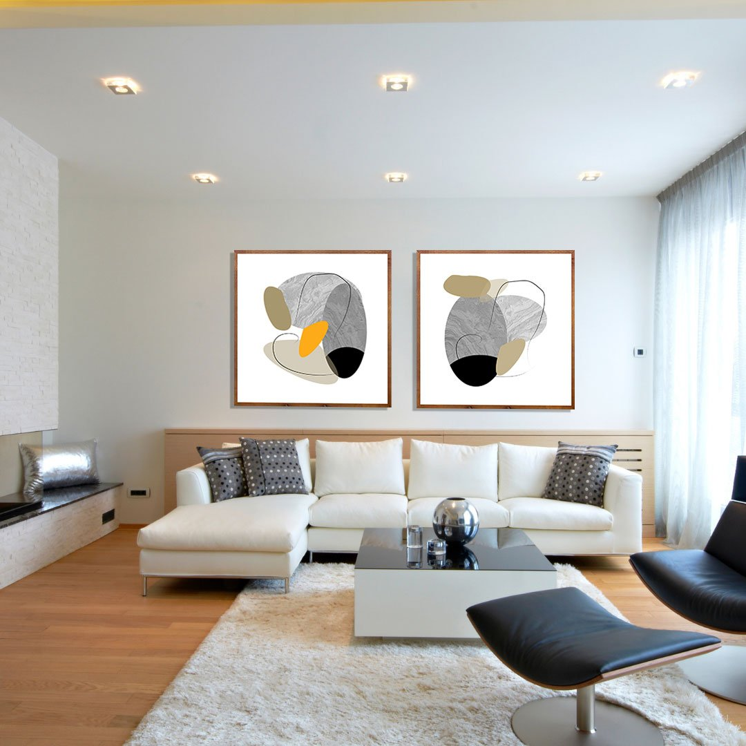 Quadro Gigante Desenho Abstrato Moderno Textura 100x100cm