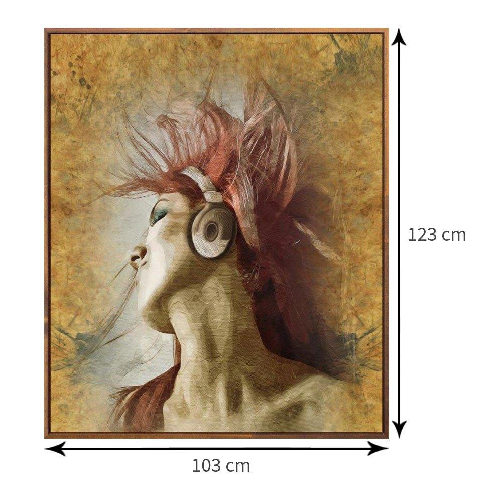 Tamanho exato do quadro com moldura 103x123 cm.