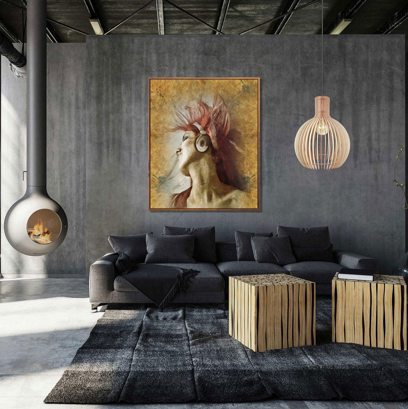 Quadro Mulher Dançando Tela Canvas com Moldura 100x120 cm