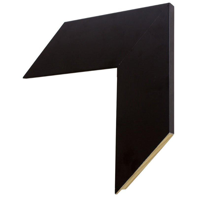 Moldura preta larga com 7 cm de largura x 1,5 cm de profundidade.