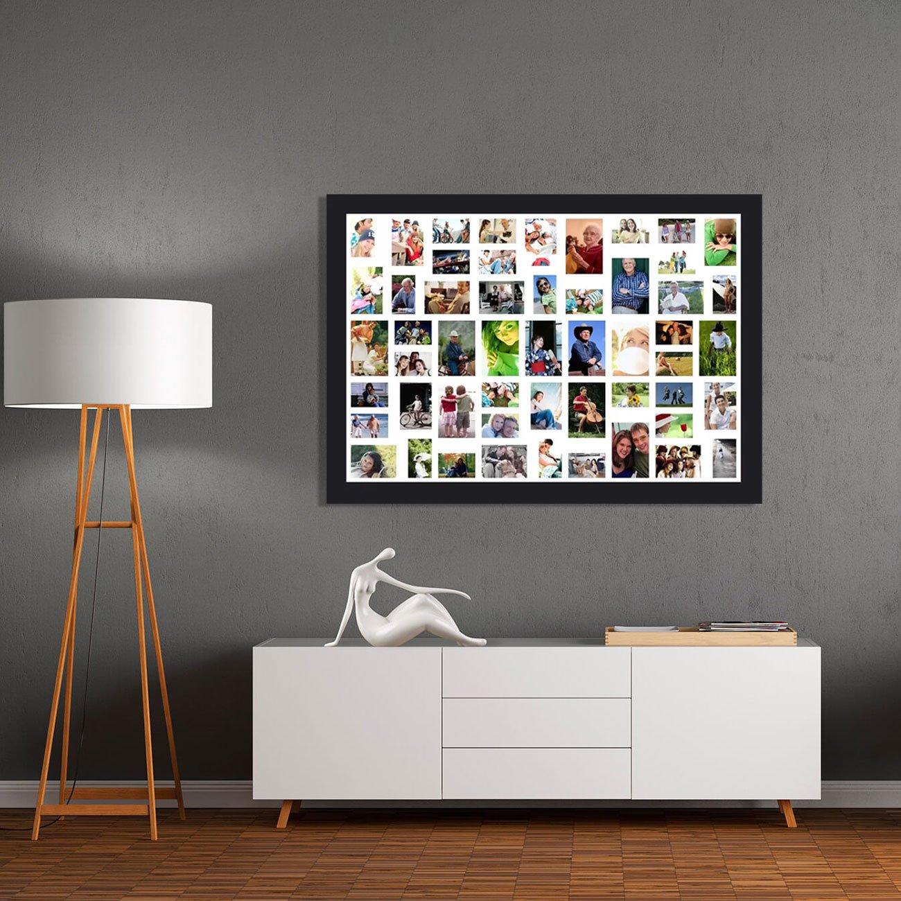 Quadro Painel de Fotos com Capacidade para 53 Fotos 160x110cm