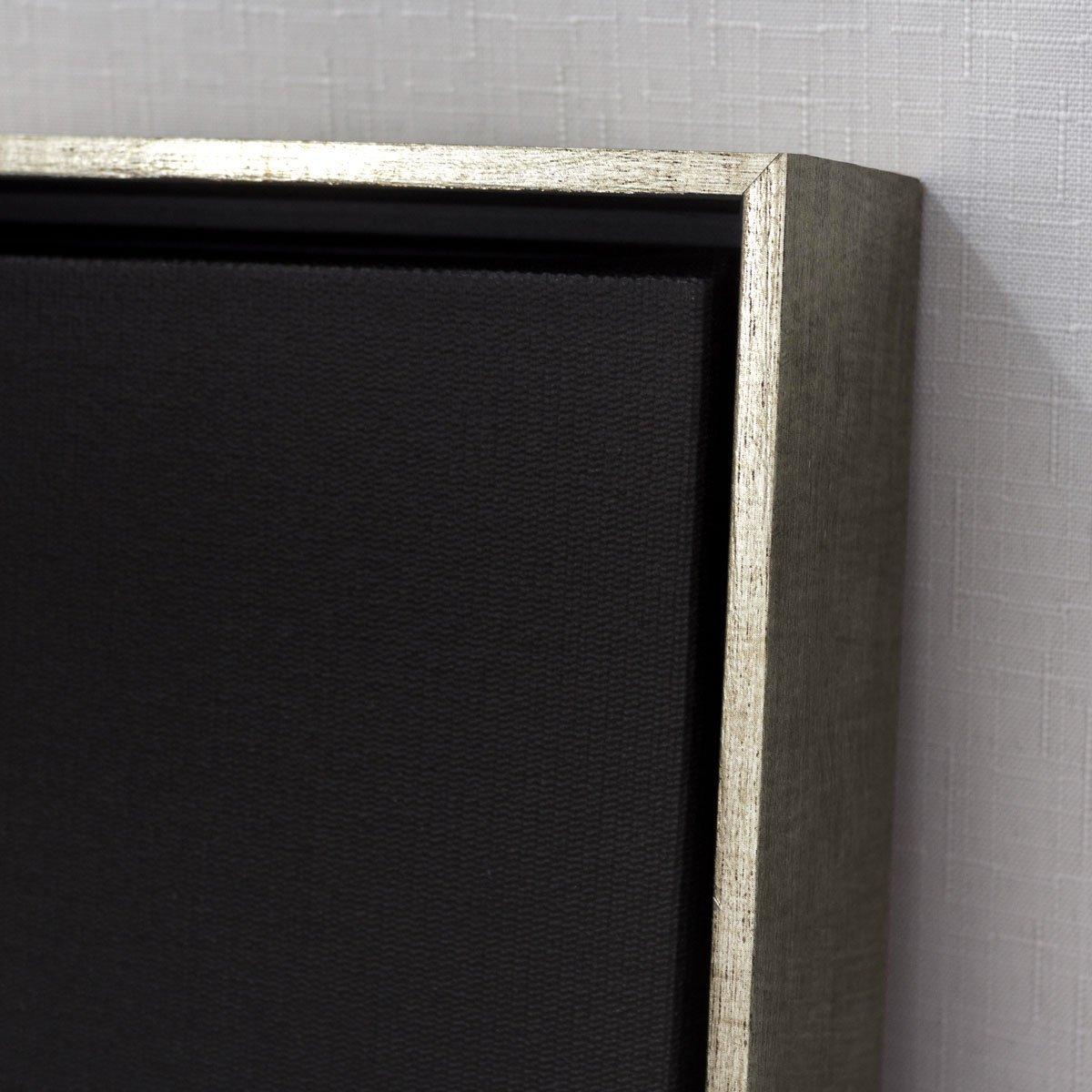 Detalhes e acabamento, tela canvas com moldura flutuante