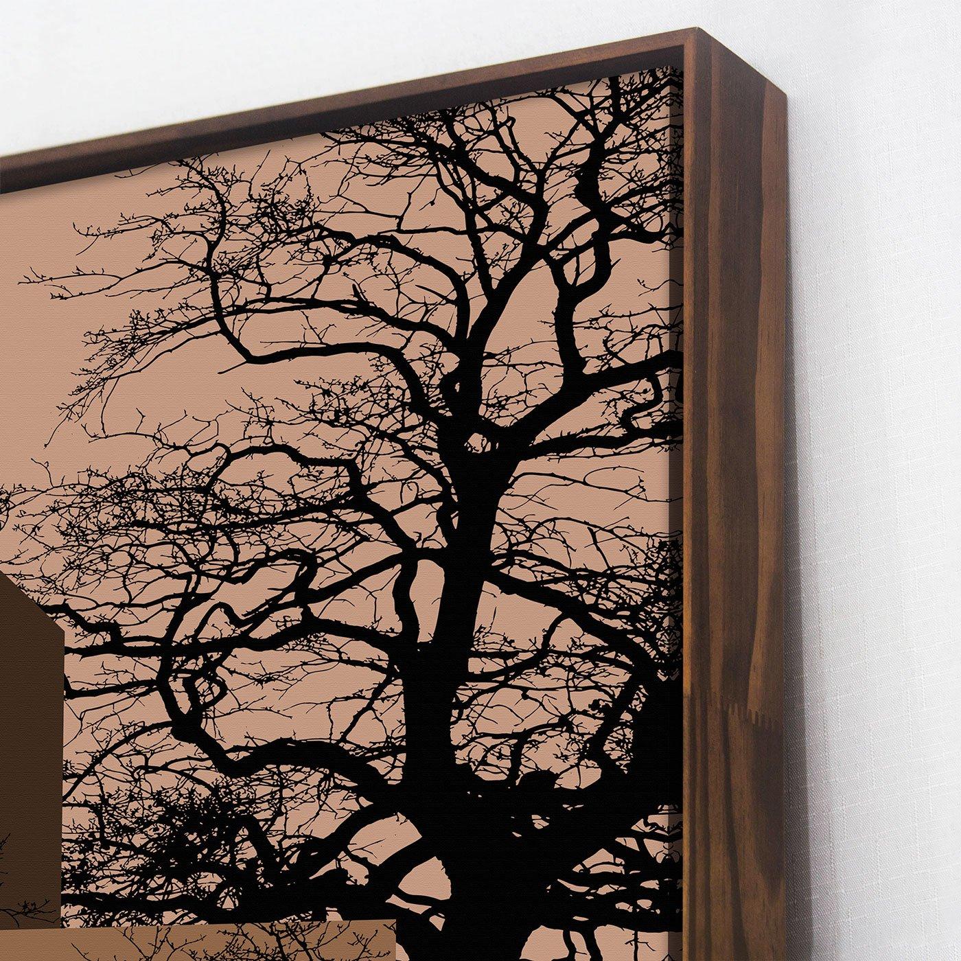Quadro Tela Canvas Arte Geométrica com Árvores 90x120 cm