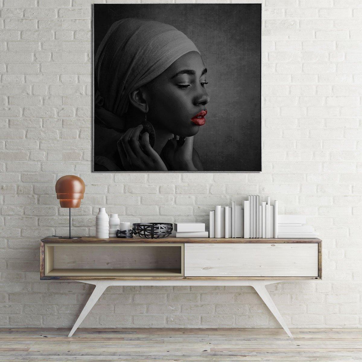 Arte africana, retrato de uma Menina.