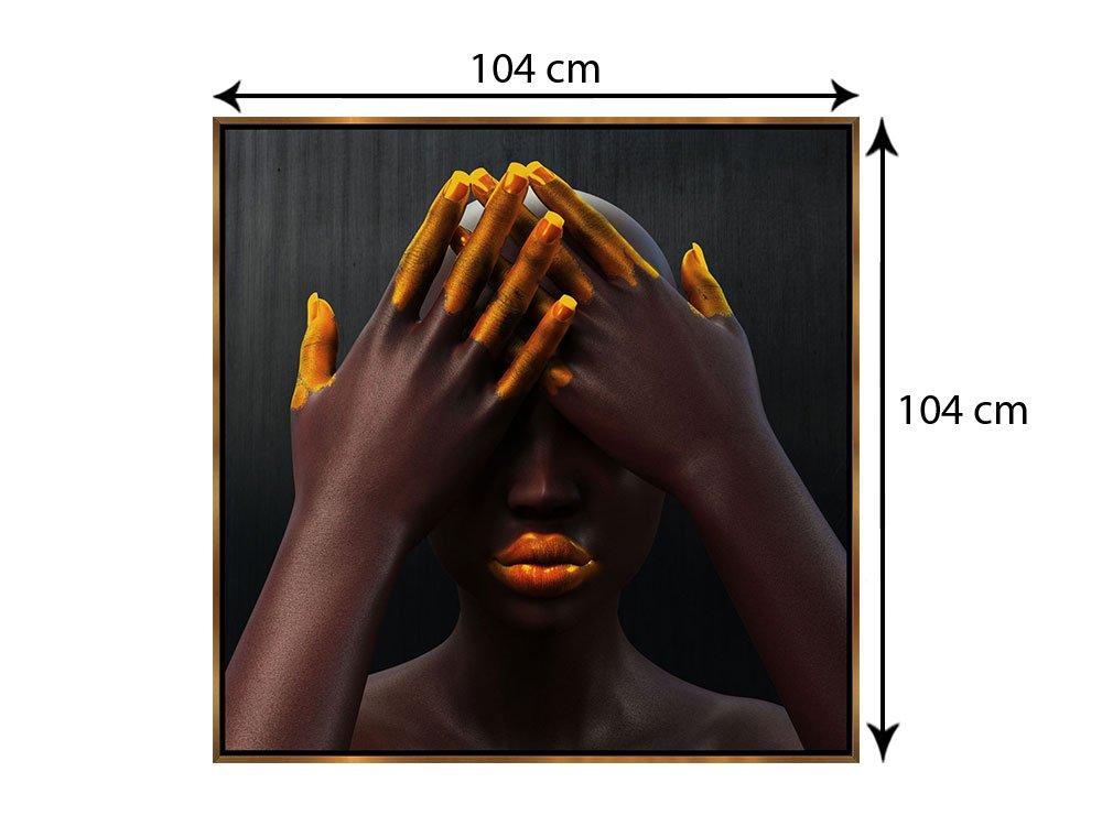 Tamanho exato do quadro: 104x104 cm.