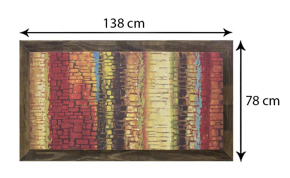 Quadro Tela Decorativa Emoldurada Abstrato 140x80cm