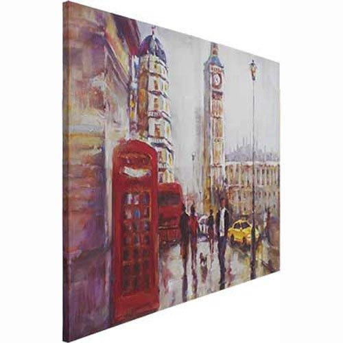 476120707 ... Quadro Tela Decorativa Pintura de Londres Torre Big Ben 120x100cm ...