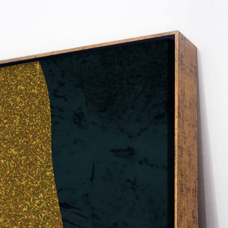 Tela Canvas com Moldura Dourada Arte Moderna Gold 90x120 cm