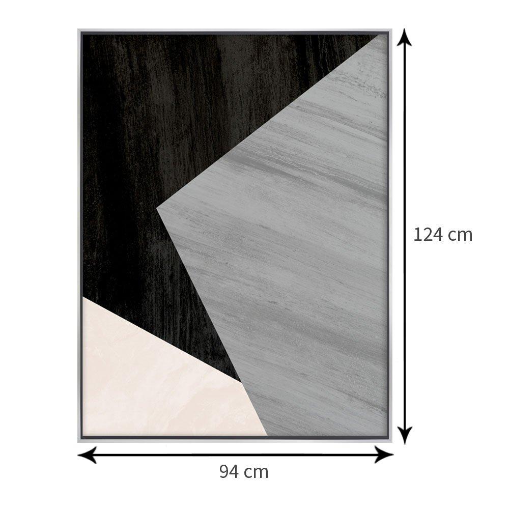 Tamanho exato do quadro: 94x124 cm.