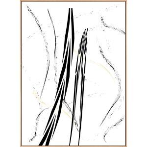 Tela Decorativa com Moldura Arte Moderna Abstrata 130x180cm