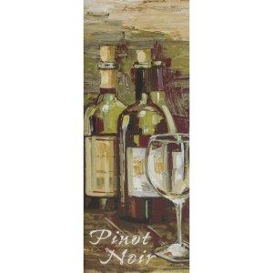 Gravura para Quadros Vinhos Uva Pinot Noir 20x50cm