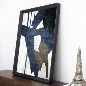 Quadro Abstrato Moderno Azul I - 65x85cm