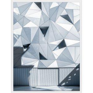 Quadro Arquitetura Fachada Geométrica de Prédio em Madri 60x80cm