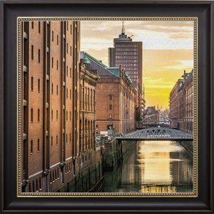 Quadro Decorativo Alemanha Canal de Hamburgo 70x70cm