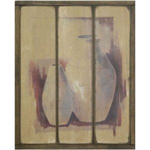 Quadro Decorativo Madeira Rústica Vasos 25x30cm