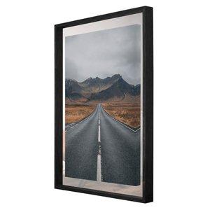 Quadro em Tela Paisagem Estrada e Montanhas na Islândia 80x110cm