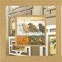 Quadro com Espelho Decorativo Pássaros 65x65cm