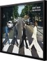 Quadro Decorativo Poster The Beatles Abbey Road s/ Vidro 90x60cm