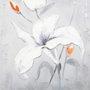 Quadro Tela Impressa Flor Branca II - 60x60cm