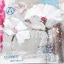 Quadro Tela Impressa Flores Papoulas Brancas 60x60cm
