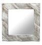 Espelho Quadrado Moderno com Moldura Prata 60x60 cm