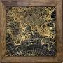 Quadro Tela Decorativa Mapa Europa, Ásia e África 80x80cm