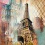 Quadro Tela Decorativa Torre Eiffel de Paris França 100x100cm