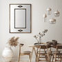Espelho Clássico com Moldura Marrom e Apliques Pretos