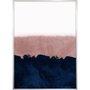 Quadro Arte Abstrata Decorativa Azul e Rosê 50x70 cm