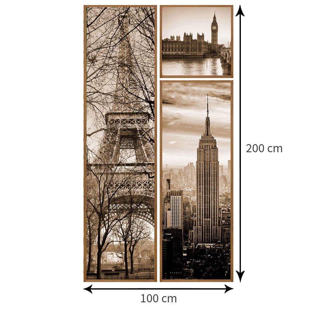 Tamanho aproximado do kit. O tamanho pode variar conforme distancia usado entre os quadros.